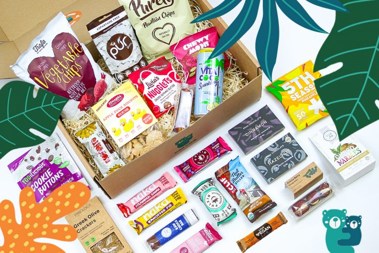 Contents of the September Treat Trunk Healthy Snack Box