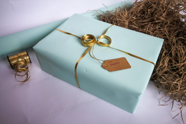 Healthy Snack Box Gift Wrapping