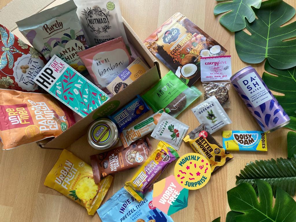 June 21 Healthy Vegan Snack Box Treat Trunk