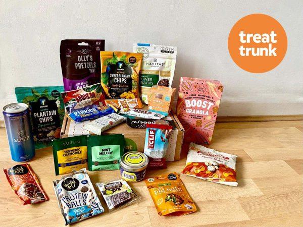 August 2021 Treat Trunk Healthy Vegan Snack Box